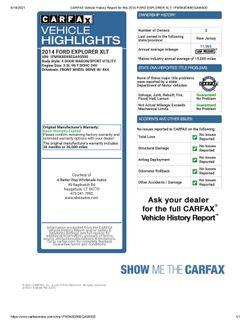 2014 Ford Explorer XLT 4WD Naugatuck, Connecticut 1