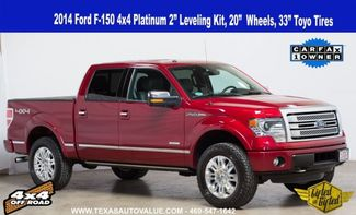 "2014 Ford F-150 Platinum 4x4 2"" Level, 20"" Wheels, 33"" Tires in Dallas, TX 75001"