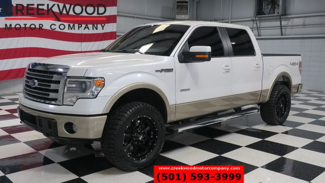 2014 Ford F-150 Lariat 4x4 White EcoBoost Leather New Tires CLEAN