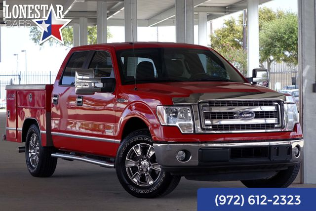 2014 Ford F150 XLT Utility Bed Leather Clean Carfax
