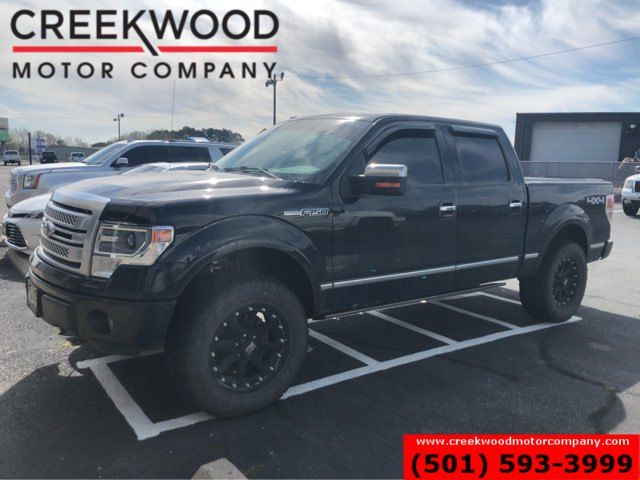2014 Ford F-150 Platinum 4x4 Black 6.2L Leveled Nav Roof 1 Owner