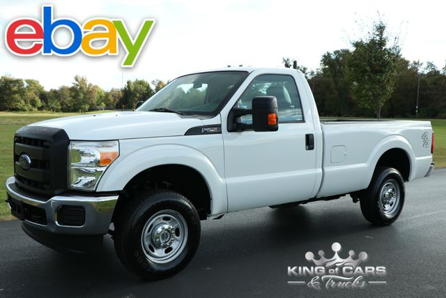 2014 Ford F250 Reg. Cab XL 8' BED 6.2L V8 97K MILES 4X4 WHITE MINT
