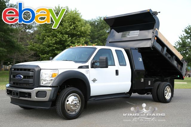 2014 Ford F550 Xcab L-Pack MASON DUMP 6.7L DIESEL 9K MILES 1OWNER 4X4 in Woodbury New Jersey, 08096