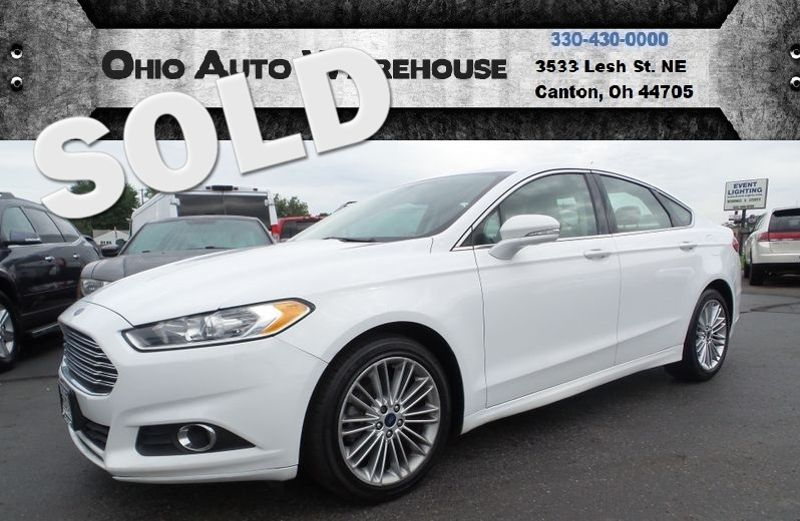 2014 Ford Fusion SE Leather EcoBoost Up To 33MPG Highway We Finance   Canton, Ohio   Ohio Auto Warehouse LLC in Canton Ohio