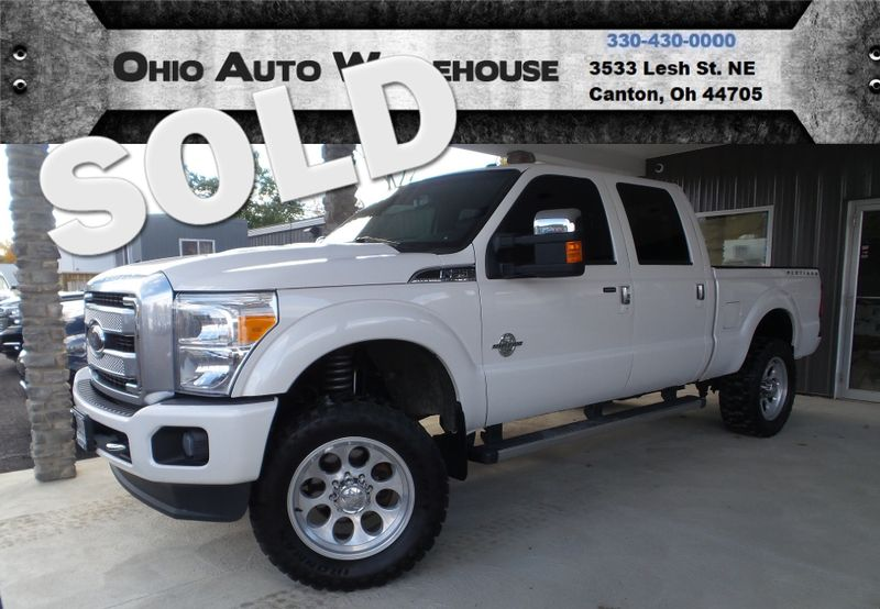 2014 Ford Super Duty F-250 Pickup Platinum 4x4 PowerStroke DIESEL Crew We Finance  | Canton, Ohio | Ohio Auto Warehouse LLC in Canton Ohio