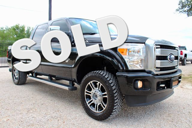 2014 Ford Super Duty F-250 Platinum 4X4 6.7L Powerstroke Diesel Auto Sealy, Texas