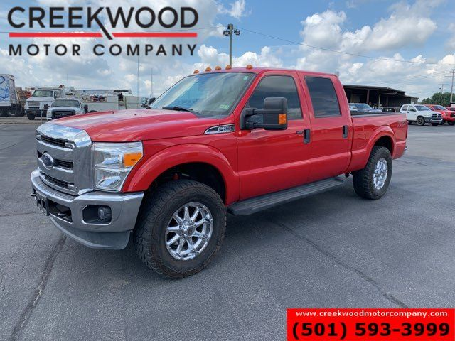 2014 Ford Super Duty F-250 XLT 4x4 6.2L Gas Red Chrome 20s Lifted Low Miles in Searcy, AR 72143