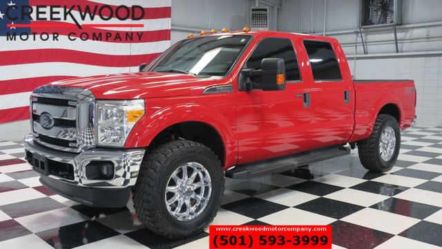 2014 Ford Super Duty F-250 XLT 4x4 6.2L Gas Red Chrome 20s Lifted Low Miles