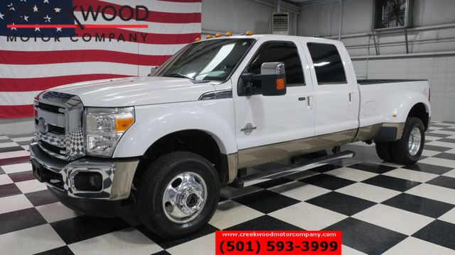 2014 Ford Super Duty F-450 Lariat 4x4 Diesel Dually White Nav Roof New Tires