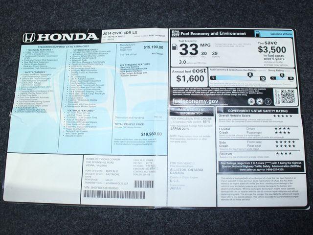 2014 Honda Civic LX Kensington, Maryland 107
