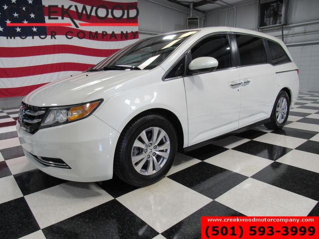 2014 Honda Odyssey EX-L Van 28mpg Leather Sunroof Tv Dvd White CLEAN