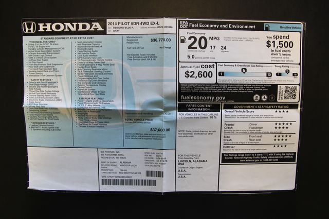 2014 Honda Pilot EX-L 4WD Richmond, Virginia 27