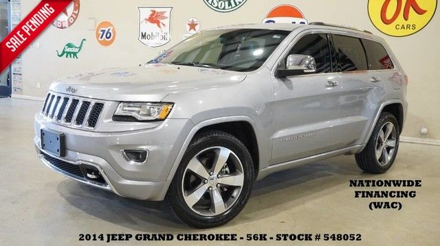 2014 Jeep Grand Cherokee Overland PANO ROOF,NAV,HTD/COOL LTH,20'S,56K,WE...