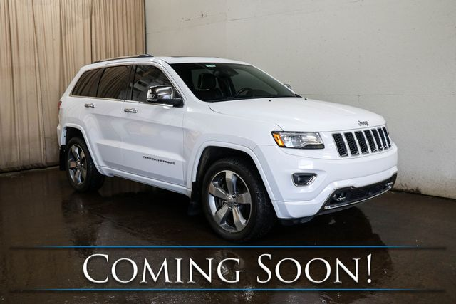 2014 Jeep Grand Cherokee Overland 4x4 ECODIESEL w/Adaptive Cruise, Nav, Cooled Seats, Panorama Roof & Tow Pkg in Eau Claire, Wisconsin 54703
