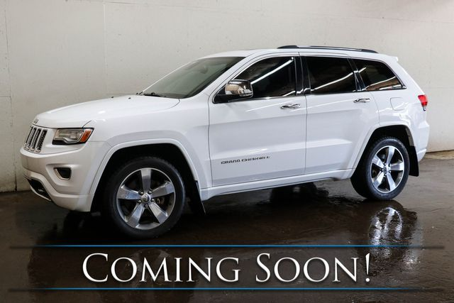 2014 Jeep Grand Cherokee Overland 4x4 ECODIESEL w/Adaptive Cruise, Nav, Cooled Seats, Panorama Roof & Tow Pkg