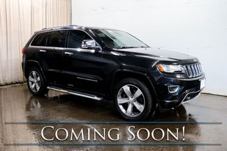 2014 Jeep Grand Cherokee Overland 4x4 SUV w/Nav, Backup Cam, Panoramic Roof, Heated/Vented Seats & Tow Pkg in Eau Claire, Wisconsin 54703