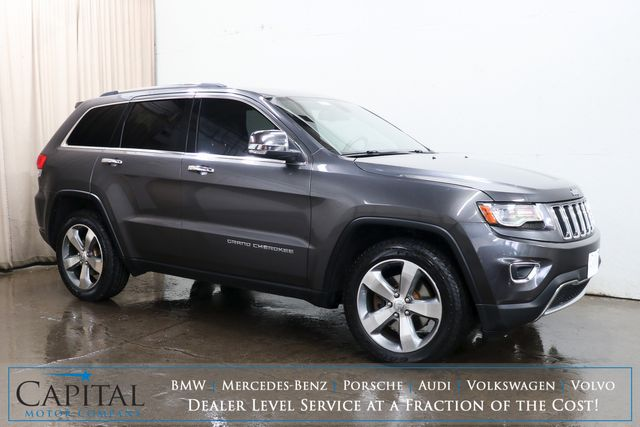 2014 Jeep Grand Cherokee Limited 4x4 ECO-Diesel SUV w/Nav, Backup Cam, Panoramic Roof & Heated/Cooled Seats