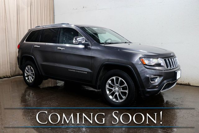 2014 Jeep Grand Cherokee Limited 4x4 ECO-Diesel w/Nav, Heated/Cooled Seats, Panoramic Roof & Tow Pkg