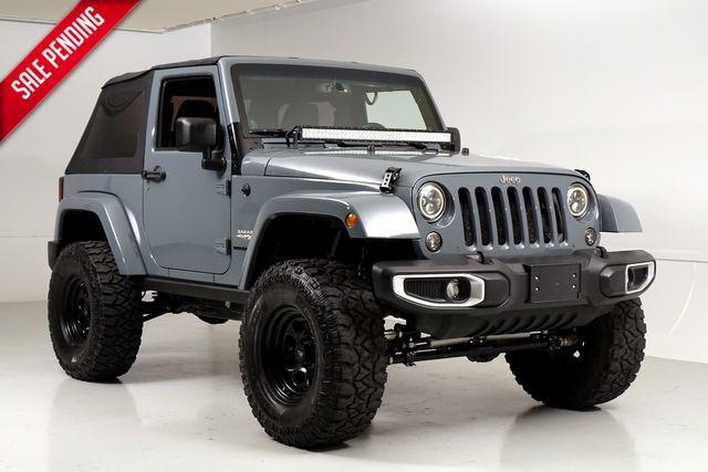 2014 Jeep Wrangler Sahara 2 Door Lifted 35 Inch Tires Light Bar Texas