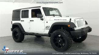 2014 Jeep Wrangler Unlimited Rubicon LIFT WITH CUSTOM WHEELS AND T... in McKinney, Texas 75070