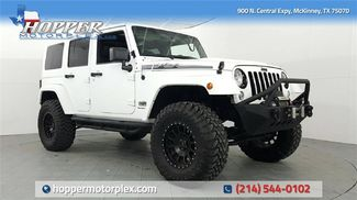 2014 Jeep Wrangler Unlimited Sahara LIFT/CUSTOM WHEELS AND TIRES in McKinney, Texas 75070