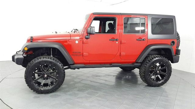 2014 Jeep Wrangler Unlimited Sport LIFT/CUSTOM WHEELS AND TIRES in McKinney, Texas 75070