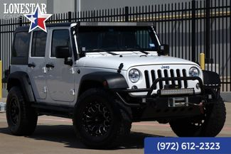 2014 Jeep Wrangler Unlimited Sport Body Lift Hard Top Light Bar in Plano, Texas 75093