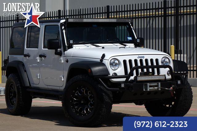 2014 Jeep Wrangler Unlimited Sport Body Lift Hard Top Light Bar