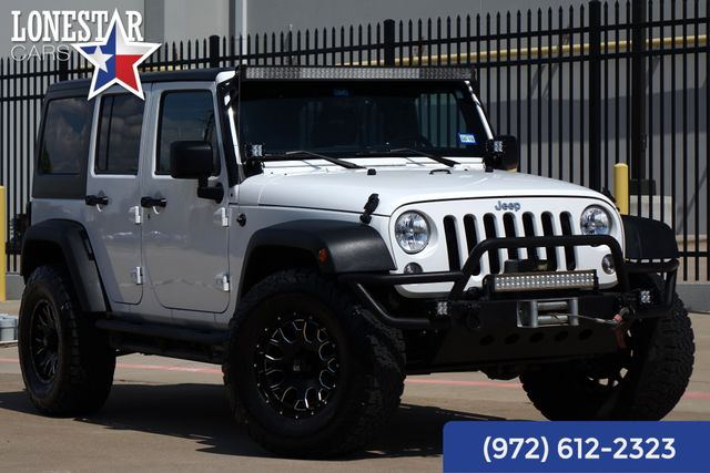 2014 Jeep Wrangler Unlimited Sport Body Lift Hard Top Light Bar