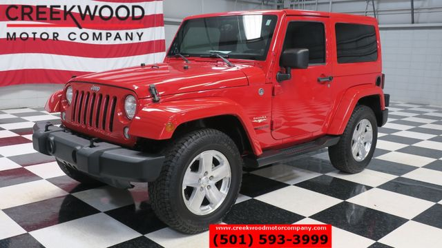 2014 Jeep Wrangler Sahara 4x4 Auto Red Hardtop Leather 1 Owner CLEAN in Searcy, AR 72143