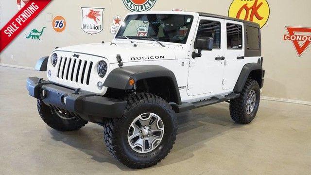 2014 Jeep Wrangler Unlimited Rubicon 4X4 6 SPD,LIFTED,NAV,CLOTH,8K!