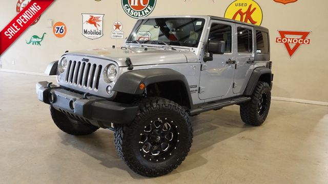 2014 Jeep Wrangler Unlimited Sport 4X4 AUTO,LIFTED,LEATHER,FUEL WHLS,72K