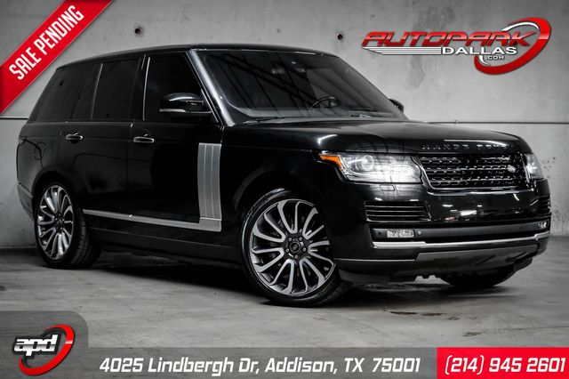 2014 Land Rover Range Rover Supercharged Autobiography Executive Rear Seat Pkg