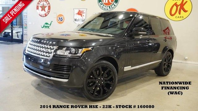 2014 Land Rover Range Rover HSE PANO ROOF,NAV,BACK-UP,HTD/COOL LTH,BLK 22'S...