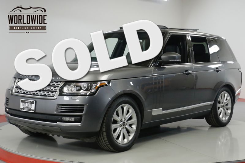 2014 Land Rover RANGE ROVER  LOW MILES SUPERCHARGED V6 PADDLE SHIFTERS  | Denver, CO | Worldwide Vintage Autos