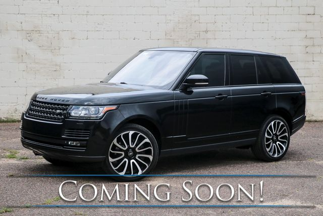 """2014 Land Rover Range Rover Supercharged 4x4 SUV w/Heated/Cooled Front and Rear Seats, Dual DVD Screens & 22"""" Rims"""