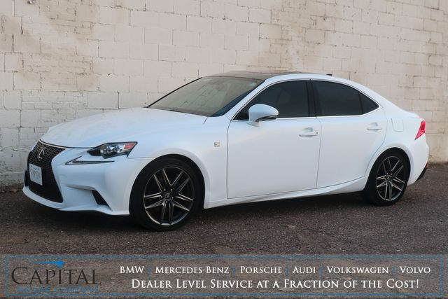 2014 Lexus IS250 AWD F-SPORT w/Nav, Backup Cam, Heated Seats and Bluetooth/Music App Audio