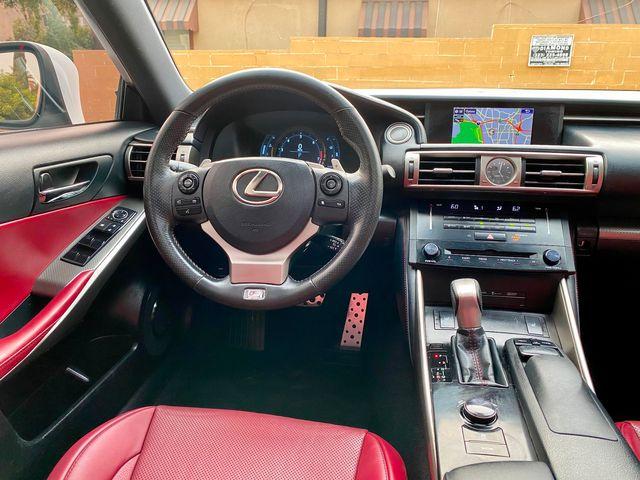 2014 Lexus IS 250 F-SPORT PKG RED INTERIOR SERVICE RECORDS XLNT CONDITION XENON in North Hollywood, CA 91607