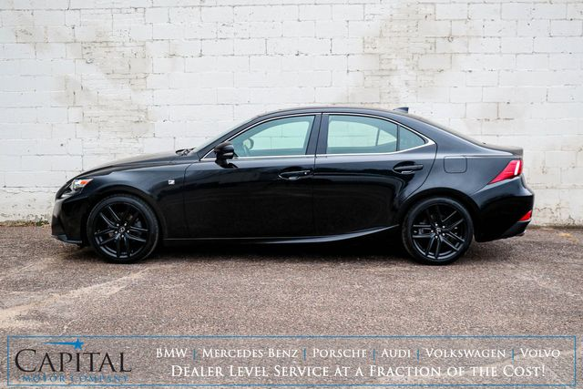 2014 Lexus IS250 AWD F-Sport Executive Luxury Car w/Nav, Backup Cam, Moonroof and Heated Seats in Eau Claire, Wisconsin 54703