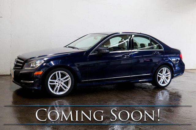 2014 Mercedes-Benz C300 Sport 4Matic AWD w/Nav, Backup Cam, Heated Seats, Moonroof and Bluetooth Audio