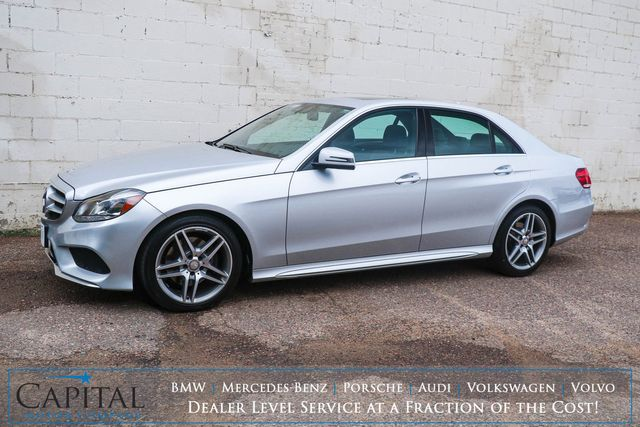 2014 Mercedes-Benz E350 Sport 4MATIC AWD Luxury Car w/Premium Pkg, Nav, Heated Seats, Moonroof & AMG Wheels in Eau Claire, Wisconsin 54703