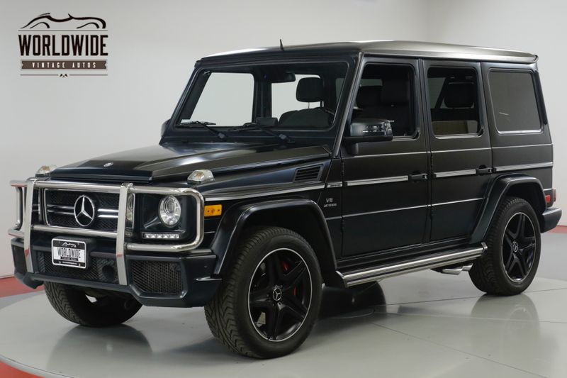 2014 Mercedes-Benz G63 SUPER LOW MILES RARE MATTE BLACK EXTERIOR  | Denver, CO | Worldwide Vintage Autos