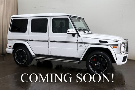 2014 Mercedes-Benz G-Wagon G63 AMG 4x4 V8 SUV with AMG Rims, Adaptive Cruise & Designo Interior in Eau Claire
