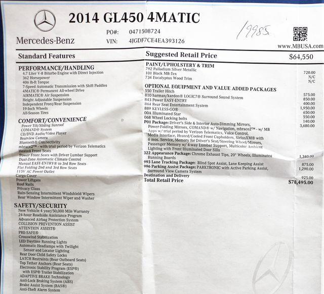 2014 Mercedes-Benz GL-Class GL450 4Matic Appearance PKG in Alexandria VA