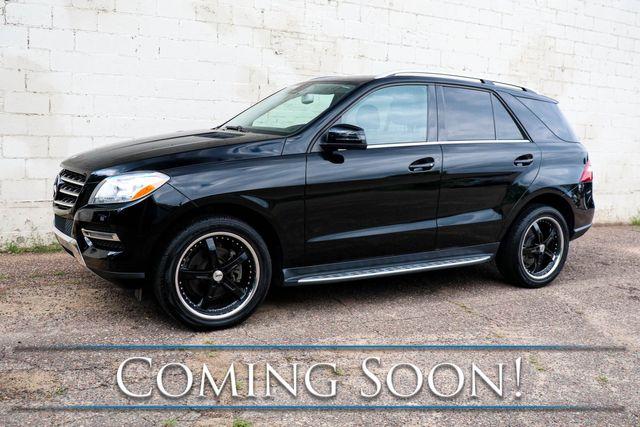 "2014 Mercedes-Benz ML350 4Matic AWD Luxury SUV w/Black 20"" Rims, Nav, Backup Cam, Heated Seats & Blutooth Audio"