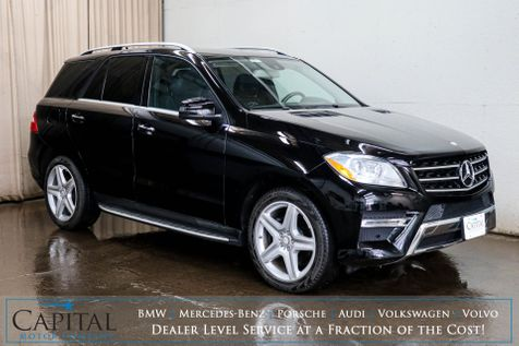 2014 Mercedes-Benz ML350 4MATIC AWD Luxury SUV w/Navigation, Heated Seats, Premium Pkg & Sport Pkg w/20