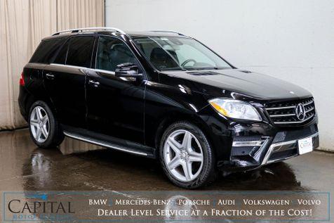 2014 Mercedes-Benz ML350 4MATIC AWD Luxury SUV w/Navigation, Heated Seats, Premium Pkg & Sport Pkg w/20
