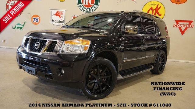 2014 Nissan Armada Platinum Reserve ROOF,NAV,REAR DVD,LTH,22'S,52K