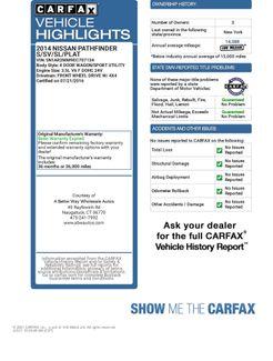2014 Nissan Pathfinder S 4WD Naugatuck, Connecticut 1