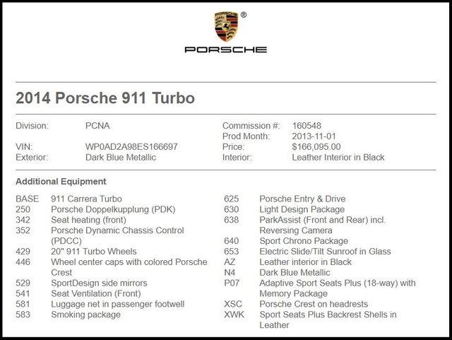 2014 Porsche 911 Turbo-[ 2 ]